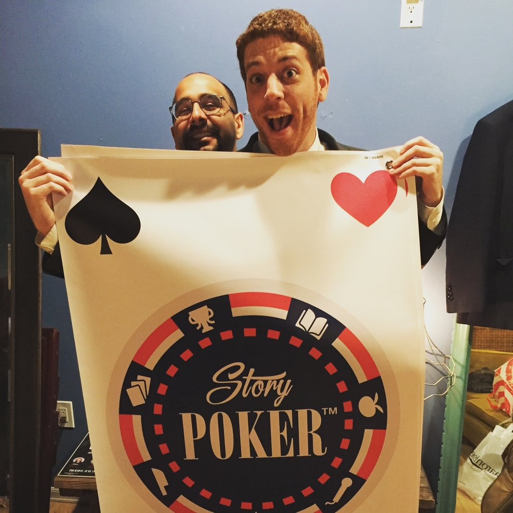 Story Poker™! - The show was created by Jeffrey Baldinger and Omid Singh one night at 4 A.M. at a Norm's Diner in West Hollywood, California. Omid was telling Jeffrey a Story, and Jeffrey said,