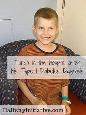 Turbo in the hospital after his type 1 diabetes diagnosis
