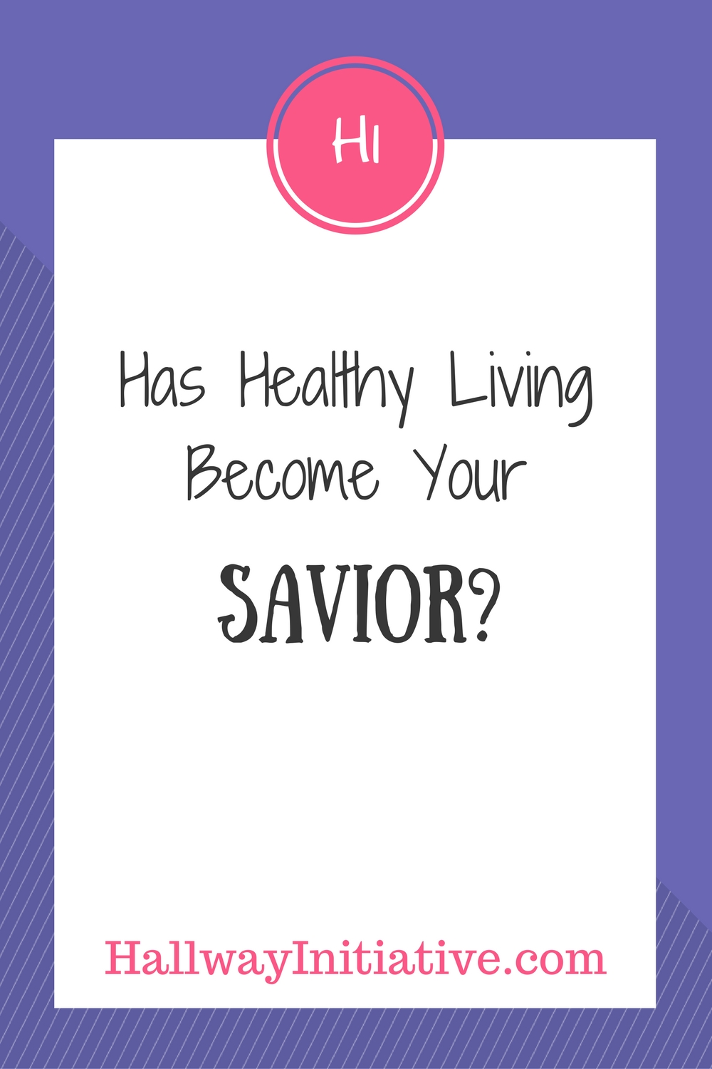 Has healthy living become your savior?