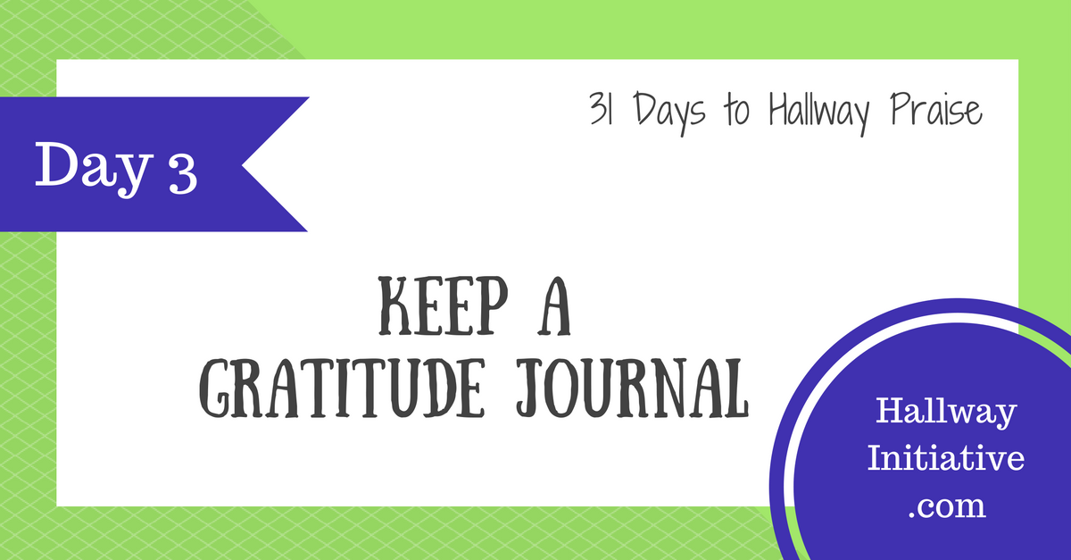 Day 3: keep a gratitude journal