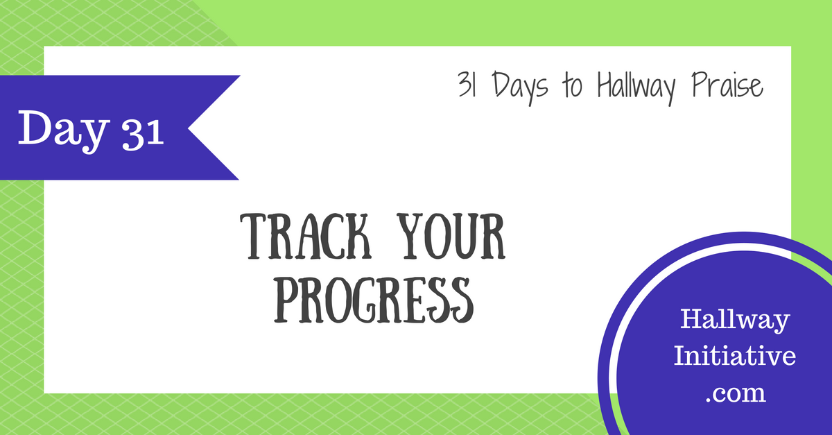 Day 31: track your progress