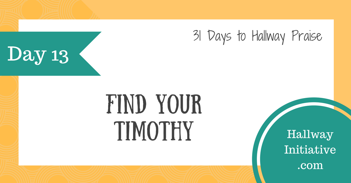 Day 13: find your Timothy