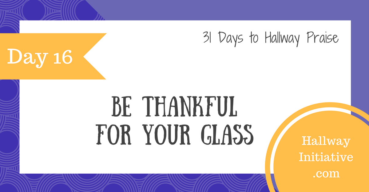 Day 16: be thankful for your glass