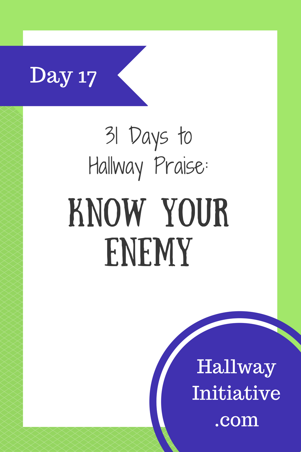 Day 17: know your enemy
