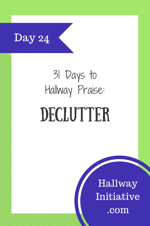 Day 24: declutter