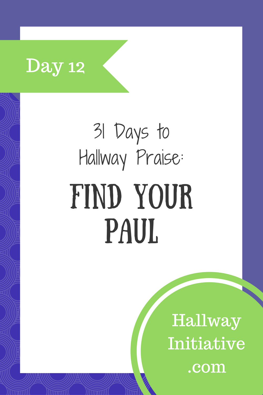 Day 12: find your Paul