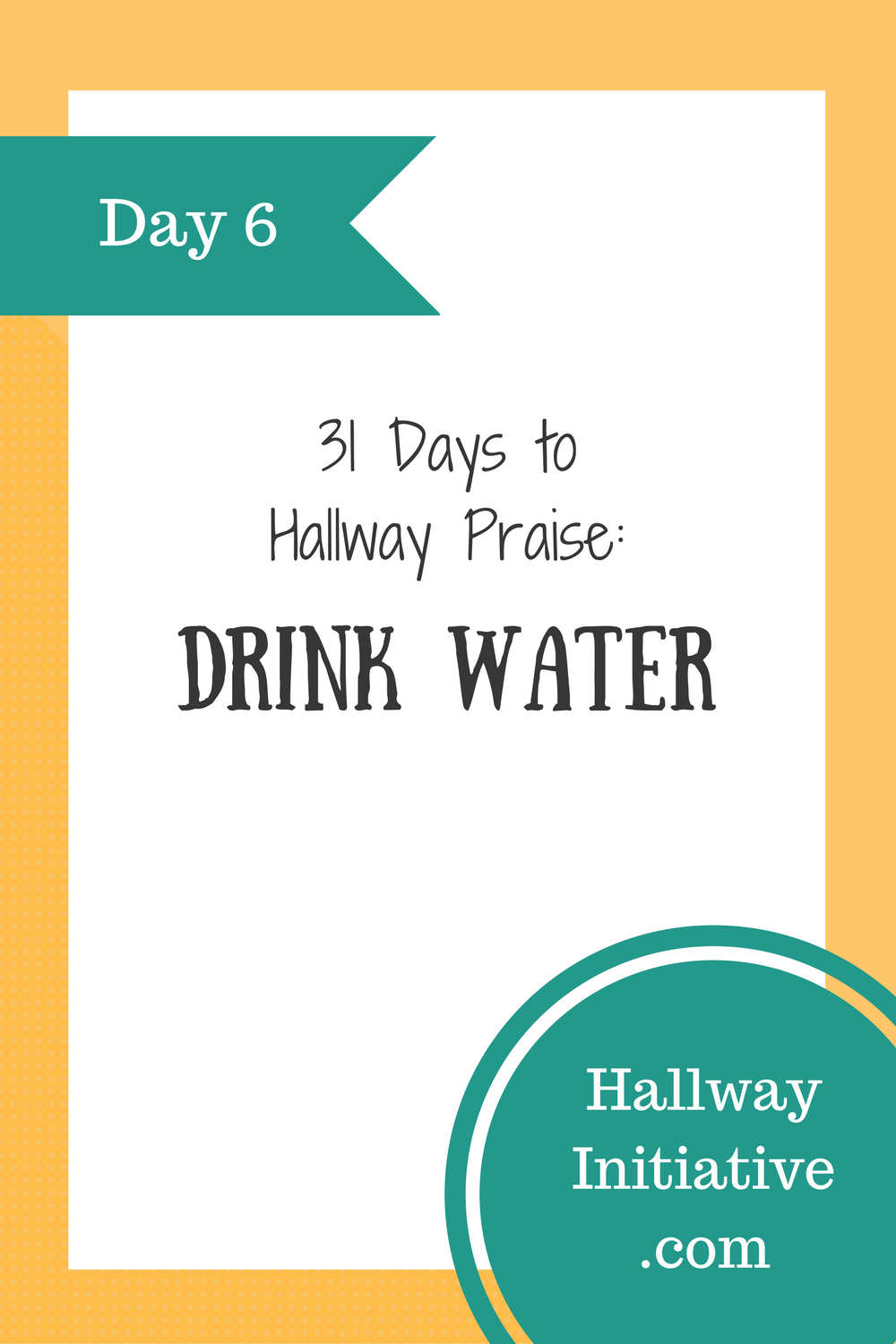 Day 6: drink water