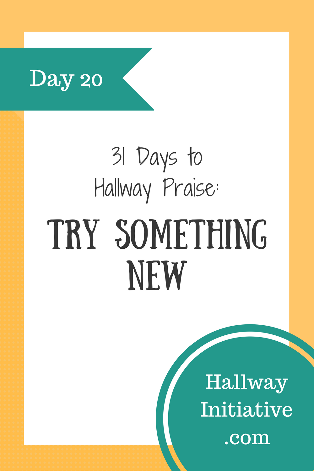 Day 20: try something new