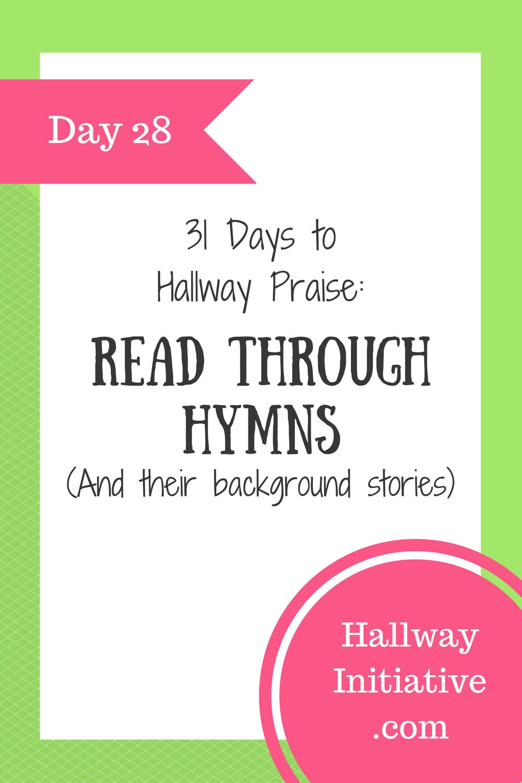 Day 28: read through hymns