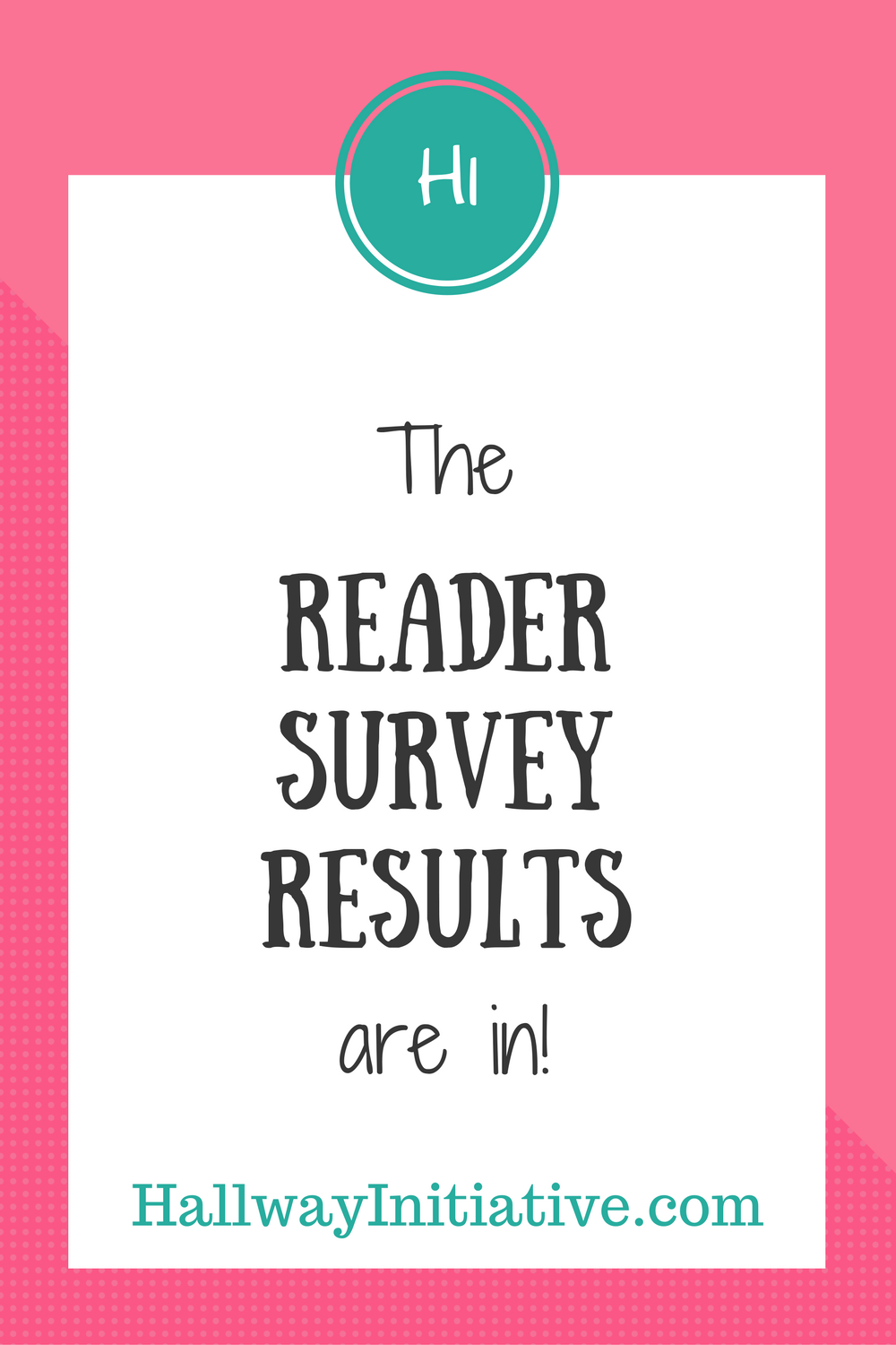 The reader survey results are in