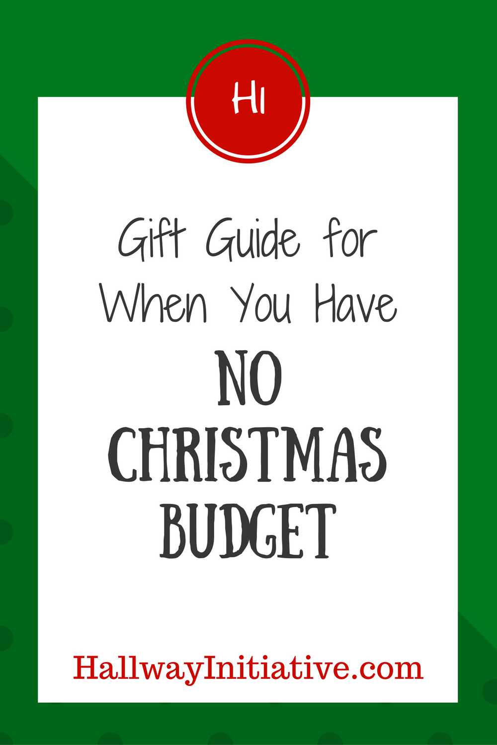 gift guide for when you have no Christmas budget