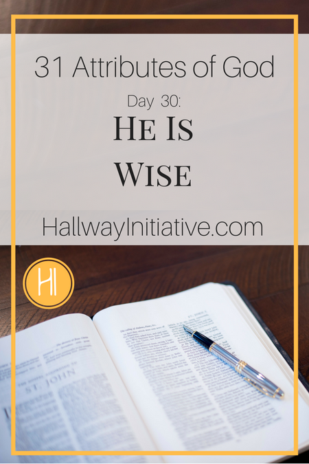 31 Attributes of God:  He is wise