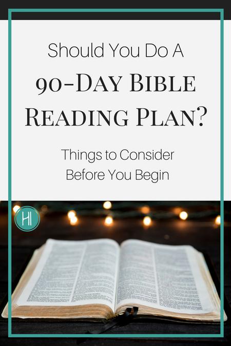 90-day Bible reading plan