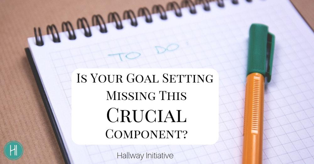 Goal Setting Crucial Component
