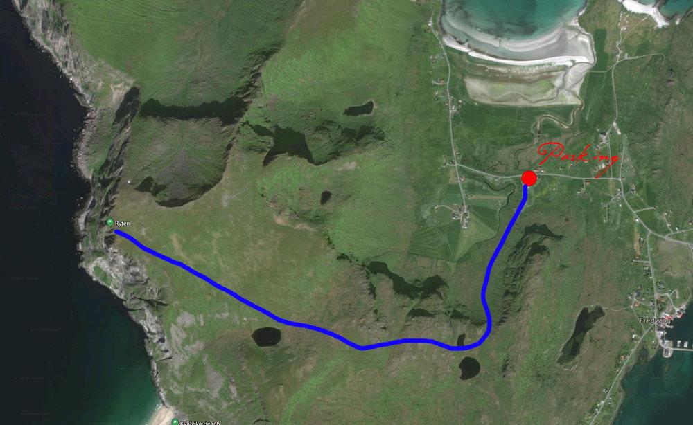 Hiking map of Ryten