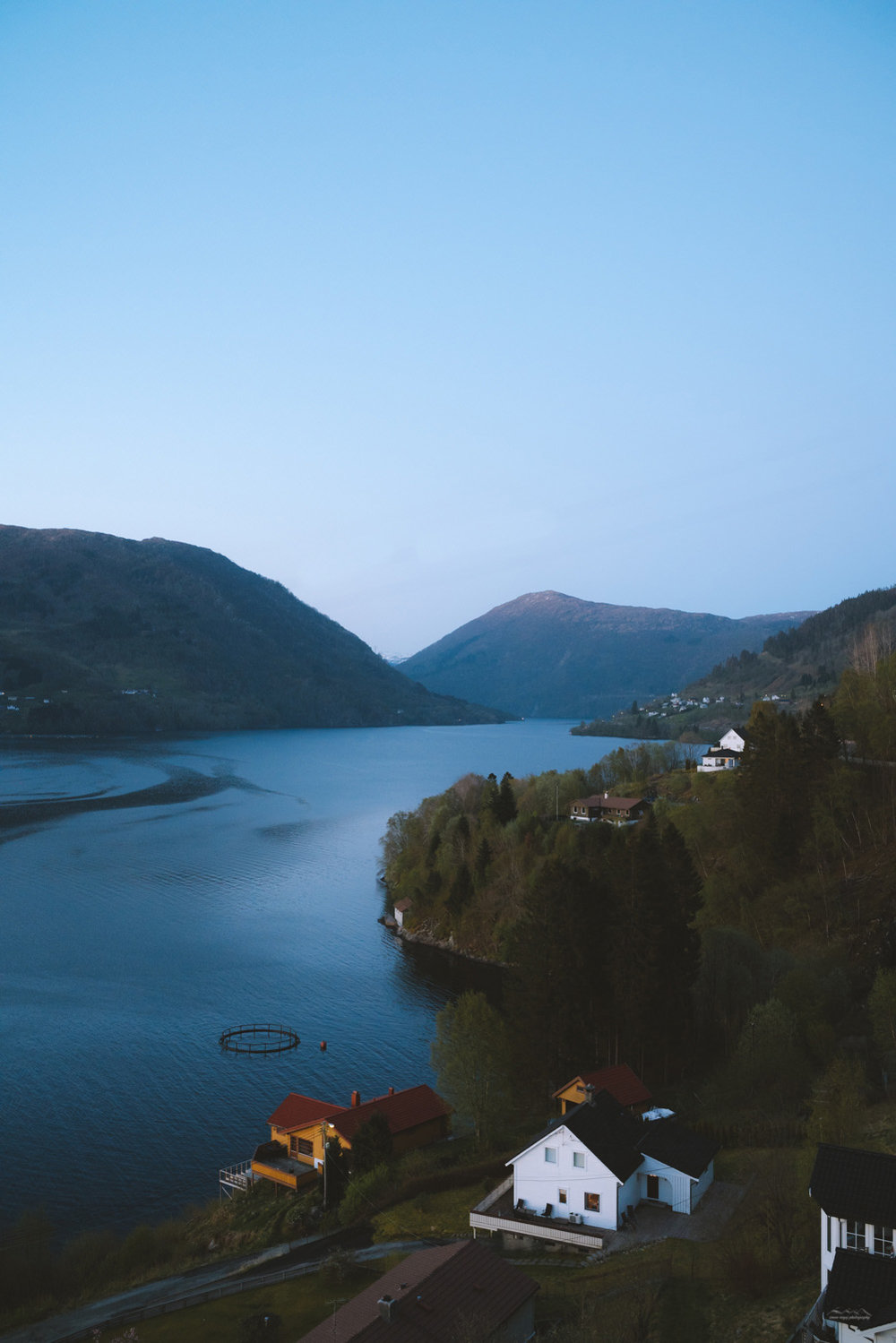 Landscape photography of a Norwegian fjord
