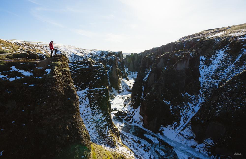 Standing at Fjaðrárgljúfur