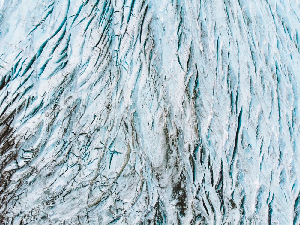 Crazy shapes of the glacier