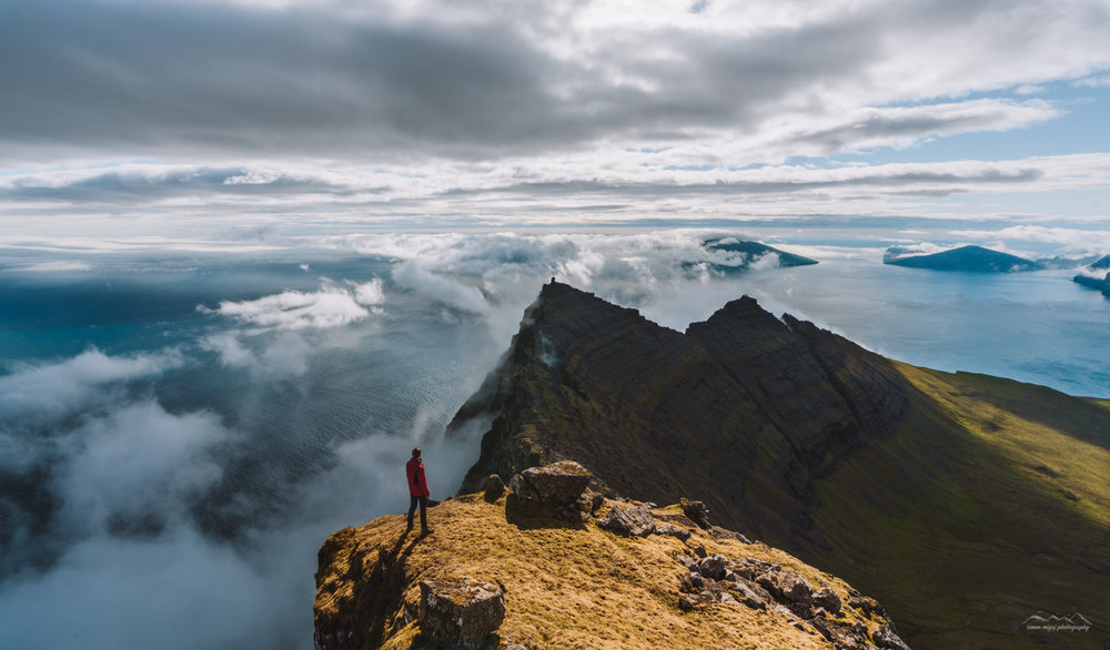 Surrounded by clouds on the Faroe Islands