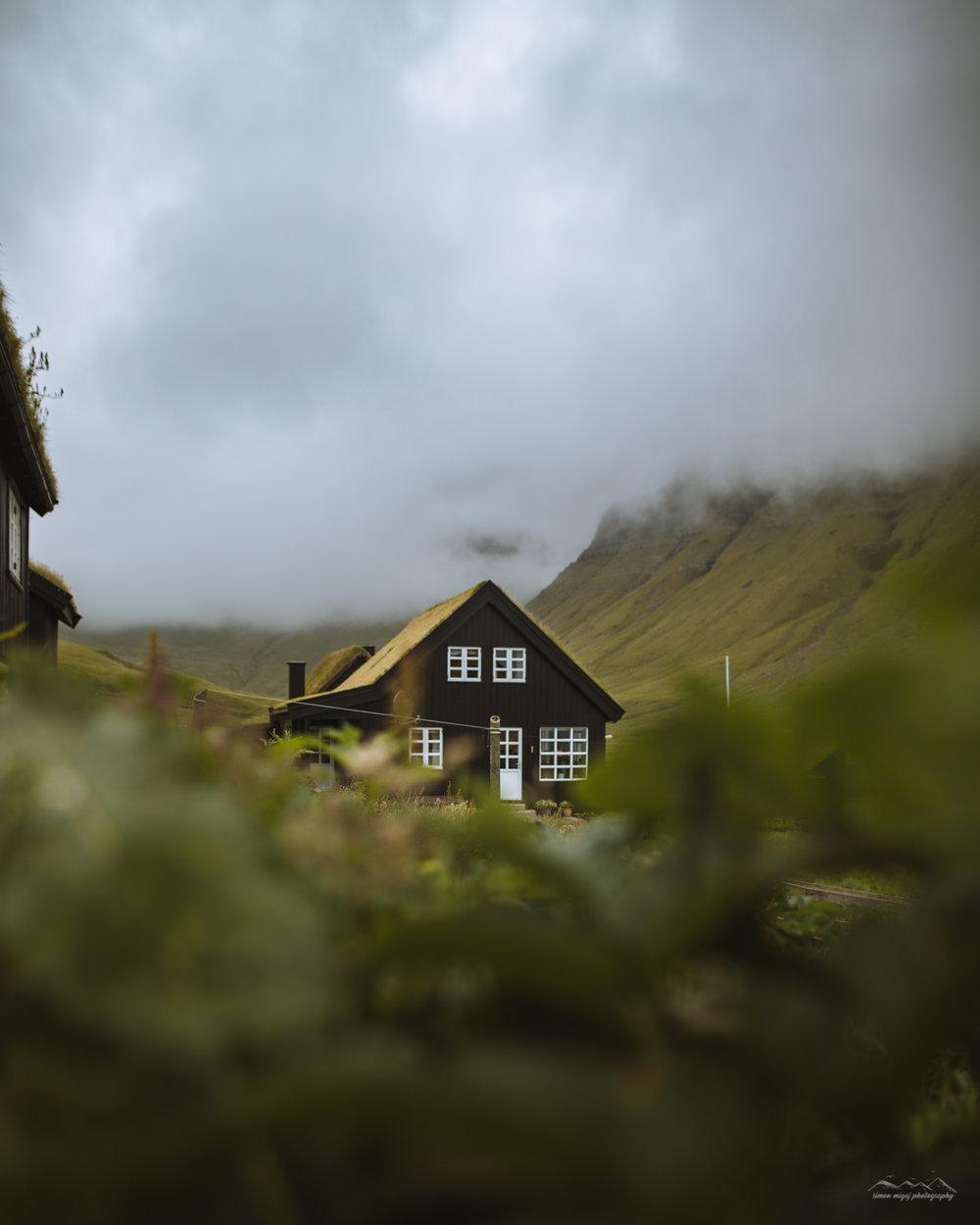 In the village of Gasadalur, Faroe Islands