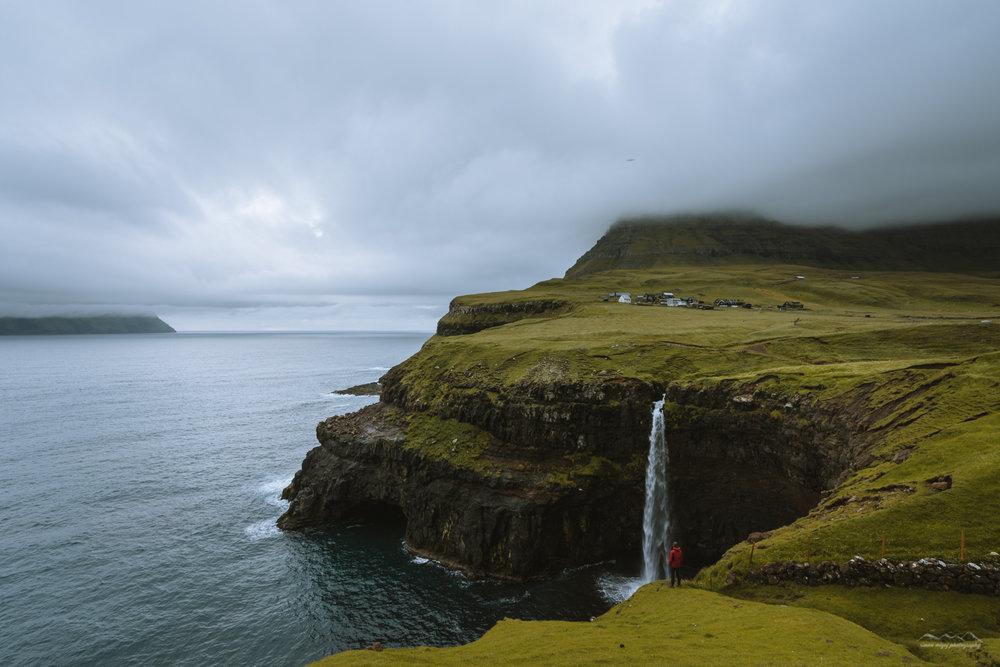 The Múlafossur waterfall