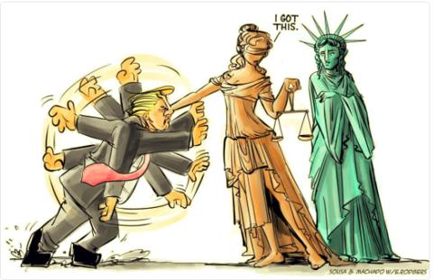 Cartoon by Sousa & Machado