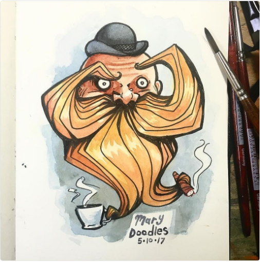 Drawing by Mary Doodles