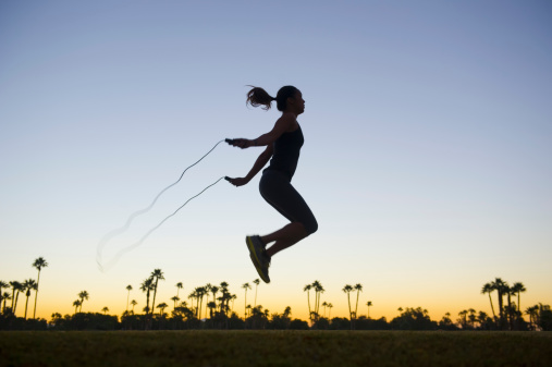 Jump-rope is my personal battle. I use to LOVE jumping rope in elementary school, and typically excelled at this playground game. Now, I force myself to jump more often (which honestly isn't often enough).