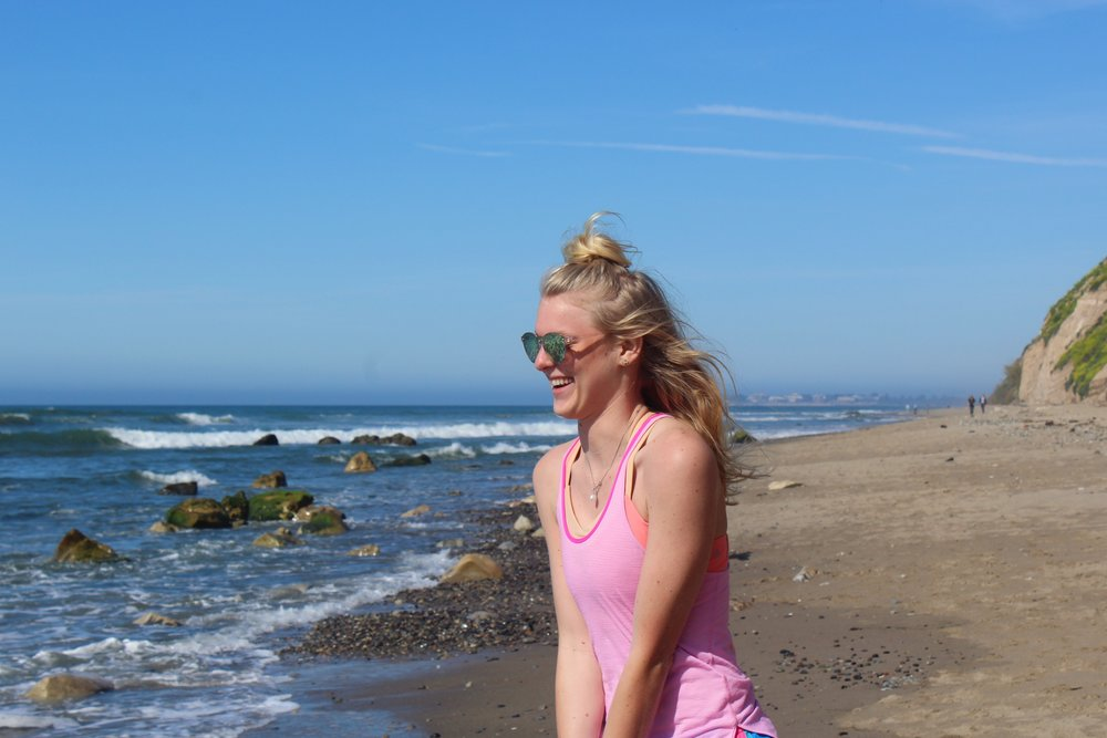 When I am on the beach or enjoying a nice, warm day, I like to go on a walk. I typically go on walks with friends, sisters and my boyfriend because it provides such great quality time to talk.