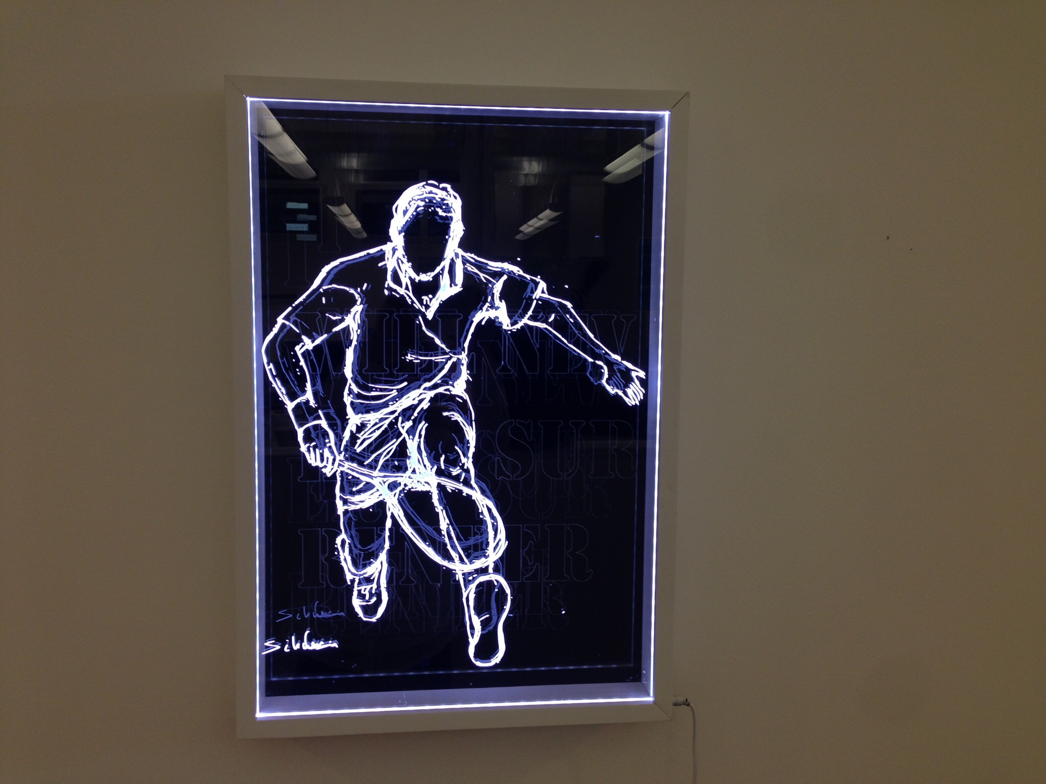 LED Drawing on Acrylate