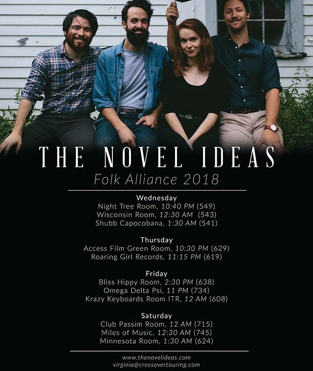 Who's ready to get tired!? Heading to @folk_alliance this February and playing lots of showcases! Let us know if you'll be there too so we can hang out and drink a bunch of coffee together!