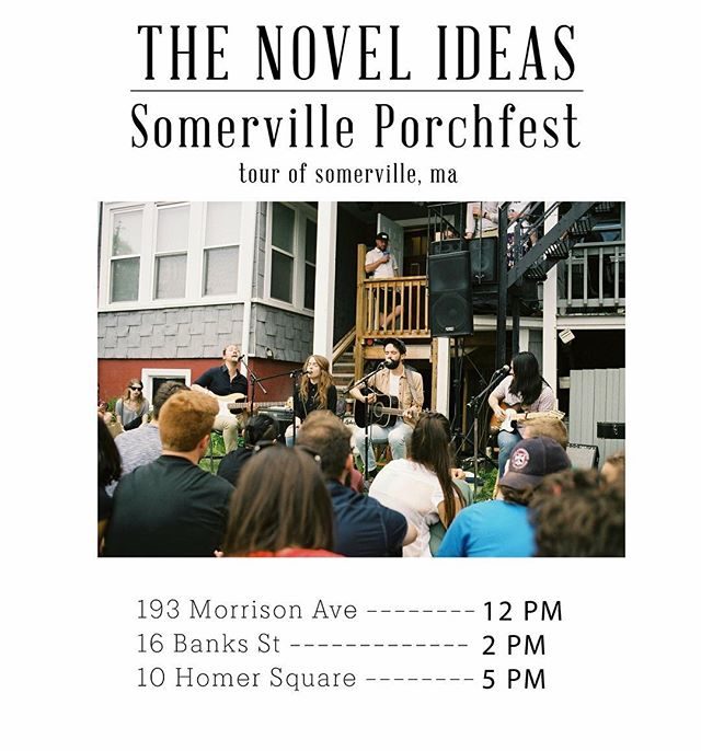 People have been asking us why we haven't played Boston in a while so guess what...we're playing THREE times...in ONE day! If you haven't been to Porchfest before now's your chance! 🌞