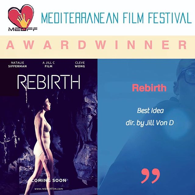 """Rebirth has won """"Best Idea"""" at the Mediterranean Film Festival in breathtaking Italy! As storytellers of motion pictures, nothing means more than when our story is appreciated and recognized. Thank you! 🎥🎬 #MedFF #RebirthFilm"""