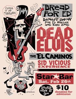 Dead Elvis 2008 Reunion show - Poster designed by Derek Yaniger