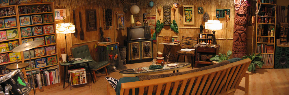 Yaniger's re-designed tiki basement.  Photo courtesy of the artist.