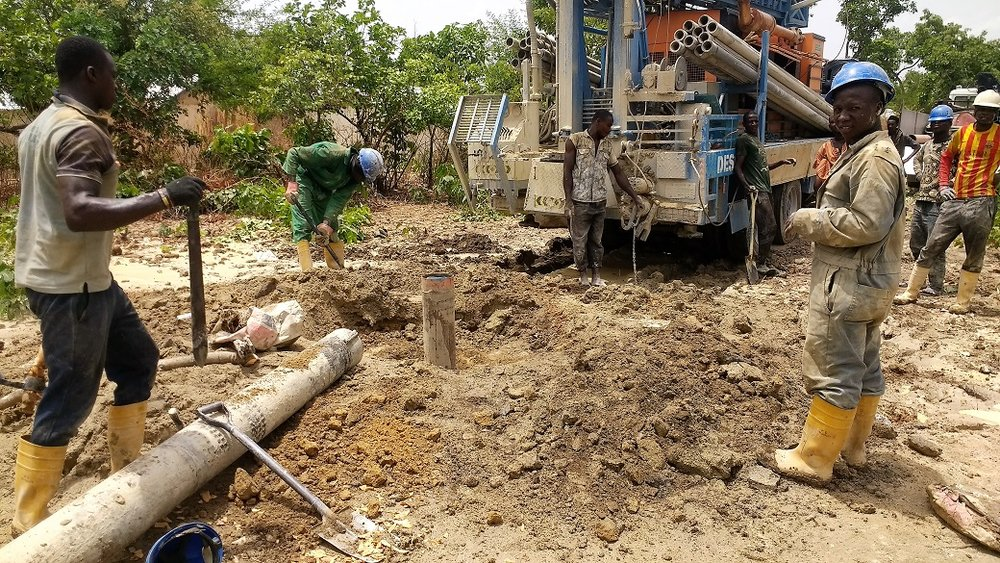 Third borehole challenge of dropped pipe