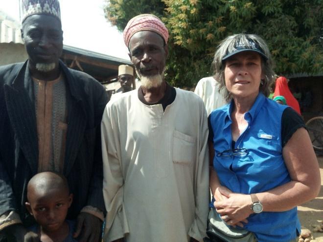 Jan Novak with two elderly Fulani gentlemen.