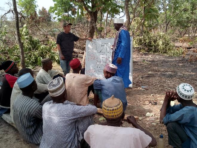 Shane reviewed paddocks and planned grazing with the local herdsmen, who are going to begin now that they have assurance of water.