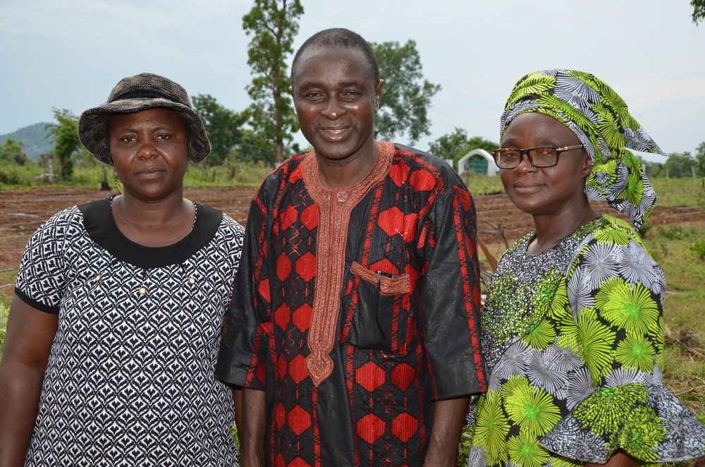 Bright Hope Principal Roseline, Rev and Mrs Jacob Ahiaba on Ero Mt Grazing Reserve.JPG