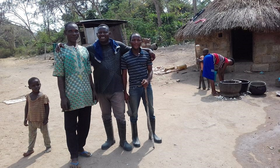 Pastor Tay with Fulani friends.