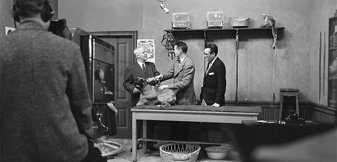 A television appearance by Chester Gould in the 1950s