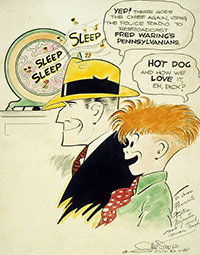 Chester Gould Sketch for Fred Waring – Early 1940s