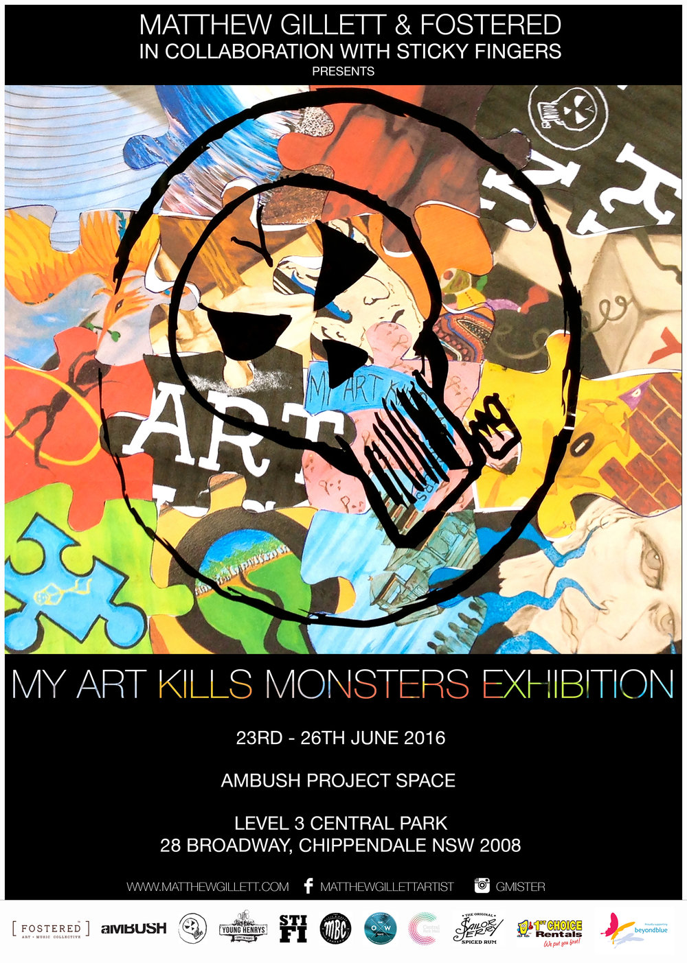 MY ART KILLS MONSTERS