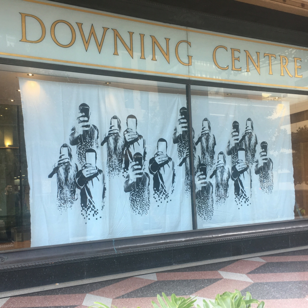 THE DOWNING CENTRE POP-UP art INSTALLATION