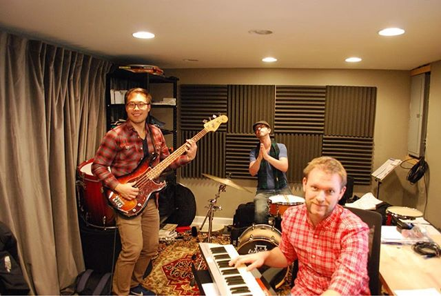 Just a couple dudes getting ready for their arena tour. NYC, Nashville, Cinci, and Chicago - we're comin' for ya!  #hiber #tour #intheshed #rehearsal #localmusic #chicago #music #indiemusic #handsomedudes #somuchplaid