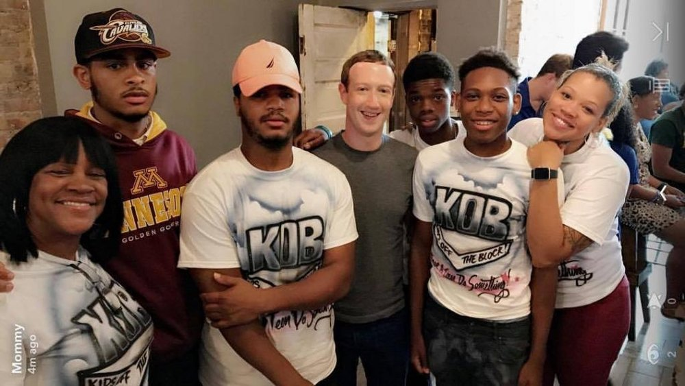 K.O.B. youth visited with Facebook founder Mark Zuckerburg who came to speak about how we can all work together to change the dynamics of our communities!
