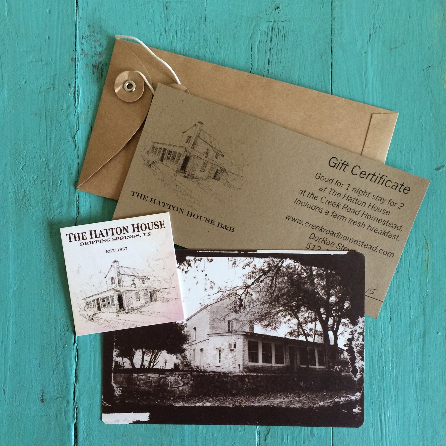 Hatton House Weekend Gift Card — CREEK ROAD HOMESTEAD