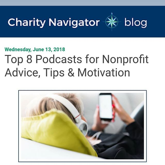 "This week, Charity Navigator included the Nonprofit Optimist in their list of ""Top 8 Podcasts for Nonprofit Advice, Tips, & Motivation!"" We're grateful that so many people find our content to be helpful and uplifting.  If you're one of those people, remember to share our podcast as a resource with others in your community!  Link in bio-  http://blog.charitynavigator.org/2018/06/top-8-podcasts-for-nonprofit-advice.html"