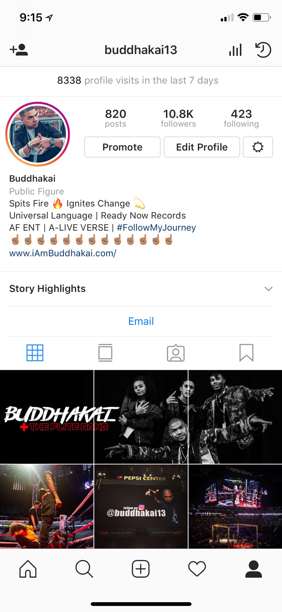 "Finally, with everything in motion, and God blessing all of my steps, I broke the 10k mark on Instagram with over 8000 views in the past seven days! This truly has been a week IGNITED. Let;s keep it going!!!  Follow me on Instagram. Click the link. instagram.com/buddhakai13  New projects:  ""Warrior"" Music Video featuring original music by Beth Crowley Click the link to hear her amazing music and watch her videos  https://www.youtube.com/user/bethj007   ""Casualties of War"" Music Video Click to watch and hear the powerful lyric video  https://www.youtube.com/watch?v=yBS7z_yxlK0"