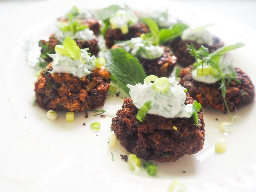 Lentil, Beetroot & Oat Bites, inspired by the Food Medic